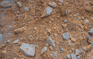 Quarry Waste ( Red earth mixed with rocks)